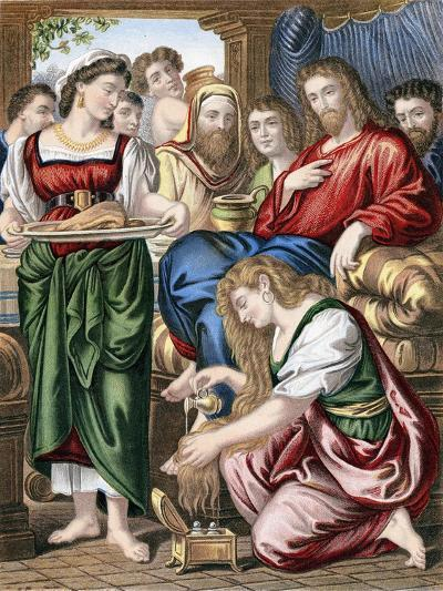 Mary Magdalene Anointing the Feet of Jesus, C1860--Giclee Print