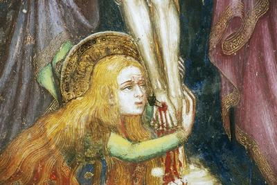 Mary Magdalene at Foot of Cross, Detail from Fresco Cycle Stories of Virgin-Ottaviano Nelli-Giclee Print