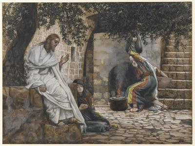 Mary Magdalene at the Feet of Jesus, Illustration from 'The Life of Our Lord Jesus Christ', 1886-94-James Tissot-Giclee Print