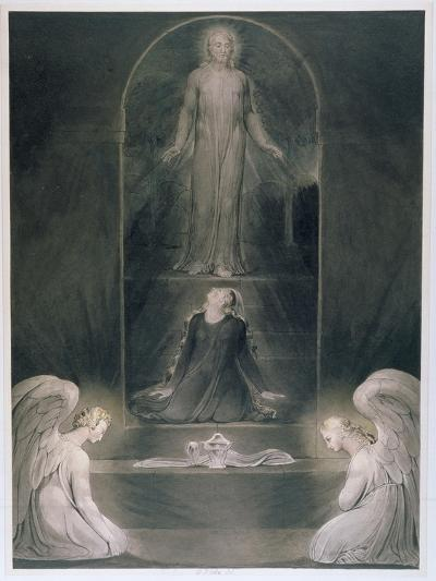 Mary Magdalene at the Sepulchre, C.1805 (W/C and Pen and Black Ink on Paper)-William Blake-Giclee Print