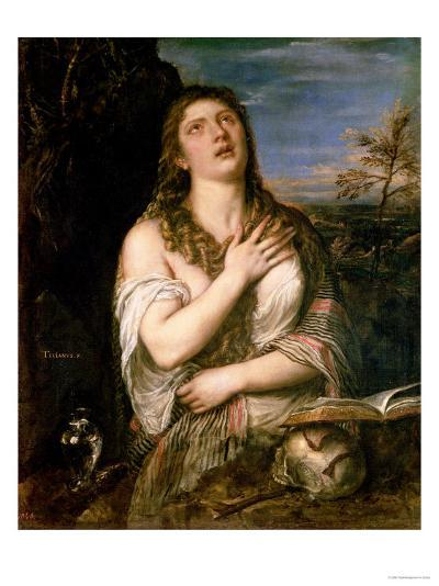 Mary Magdalene in Penitence, 1560s-Titian (Tiziano Vecelli)-Giclee Print
