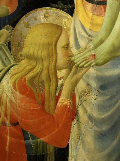 Mary Magdalene Kissing Christ's Feet, from the Deposition of Christ, 1435 (Detail)-Fra Angelico-Giclee Print