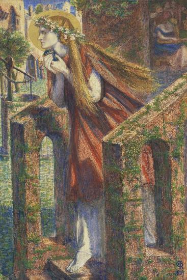 Mary Magdalene Leaving the House Feasting-Dante Gabriel Rossetti-Giclee Print