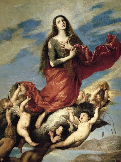 Mary Magdalene Taken Up to Heaven-Jos? de Ribera-Giclee Print