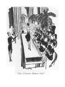"""""""Soir d'Amour?Maison Vivi."""" - New Yorker Cartoon by Mary Petty"""
