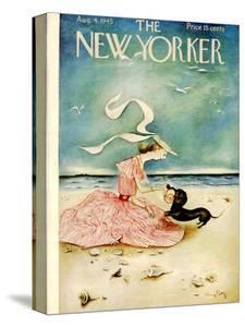 The New Yorker Cover - August 4, 1945 by Mary Petty