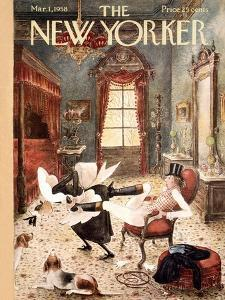 The New Yorker Cover - March 1, 1958 by Mary Petty