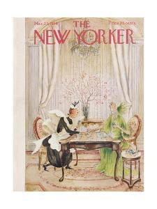 The New Yorker Cover - March 21, 1959 by Mary Petty