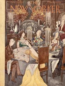 The New Yorker Cover - November 25, 1944 by Mary Petty