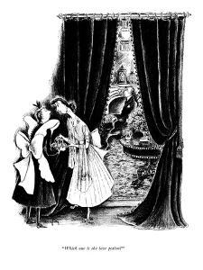 """""""Which one is the love potion?"""" - New Yorker Cartoon by Mary Petty"""