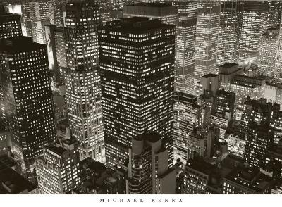 Mary Poppins over Midtown, New York, 2006-Michael Kenna-Art Print