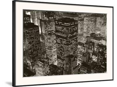 Mary Poppins over Midtown, New York, 2006-Michael Kenna-Framed Art Print