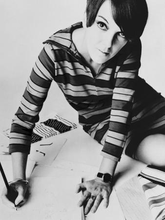Mary Quant, British Mod Fashion Designer, 1967