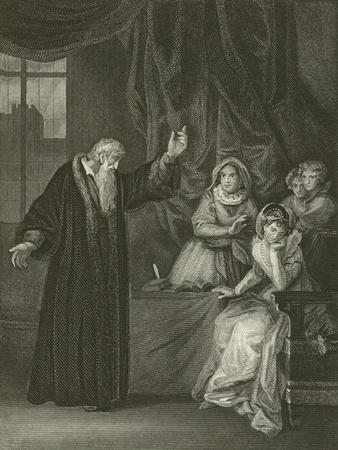 Mary Queen of Scots Reproved by Knox-Robert Smirke-Giclee Print