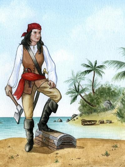 Mary Read, (1690-172), British Pirate's Mate-Karen Humpage-Giclee Print