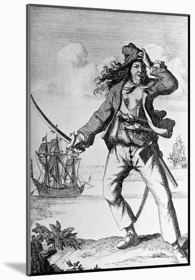 Mary Read, Woman Pirate of West Indies-null-Mounted Giclee Print