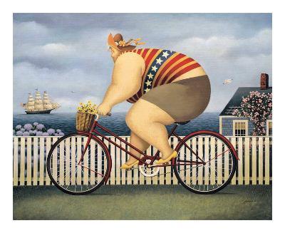 Mary's New Bike-Lowell Herrero-Art Print