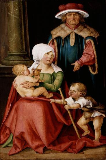 Mary Salome and Zebedee with their Sons James the Greater and John the Evangelist, C.1511-Hans Suess Kulmbach-Giclee Print