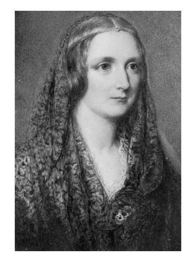 Mary Shelley, an Idealised Portrait Created after Her Death-Reginald Easton-Giclee Print