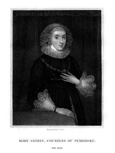 Mary Sidney Herbert, Countess of Pembroke, English Literary Figure-C Picart-Giclee Print