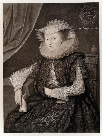 Mary Sidney-Marcus Gheeraerts The Younger-Giclee Print