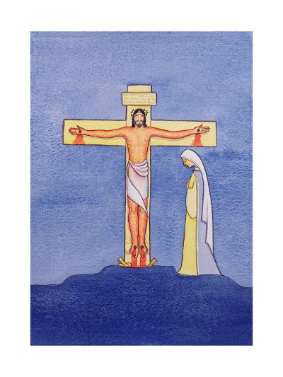 Mary Stands by the Cross as Jesus Offers His Life in Sacrifice, 2005-Elizabeth Wang-Giclee Print