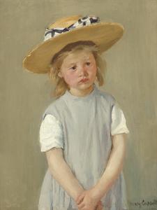 Child in a Straw Hat, c.1886 by Mary Stevenson Cassatt