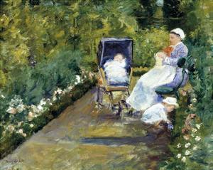 Children in a Garden (The Nurse) by Mary Stevenson Cassatt