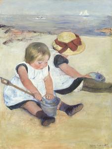 Children Playing on the Beach, 1884 by Mary Stevenson Cassatt