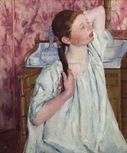 Girl Arranging Her Hair, 1886 by Mary Stevenson Cassatt