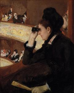 In the Loge, 1878 by Mary Stevenson Cassatt