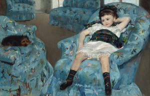 Little Girl in a Blue Armchair, 1878 by Mary Stevenson Cassatt