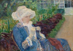 Lydia Crocheting in the Garden at Marly, 1880 by Mary Stevenson Cassatt