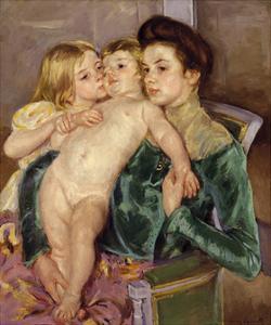 The Caress, 1902 by Mary Stevenson Cassatt