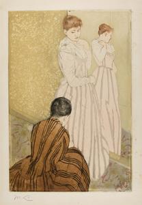 The Fitting, 1890-91 by Mary Stevenson Cassatt