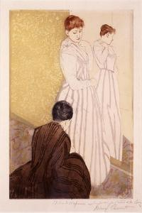 The Fitting by Mary Stevenson Cassatt
