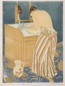 Woman Bathing (La Toilette), 1890-1 by Mary Stevenson Cassatt