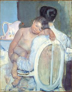 Woman Sitting with a Child in Arms, 1890 by Mary Stevenson Cassatt