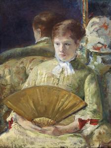 Woman with a Fan, c.1878-1879 by Mary Stevenson Cassatt