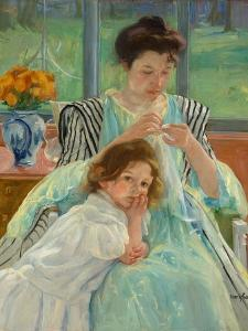 Young Mother Sewing, 1900 by Mary Stevenson Cassatt