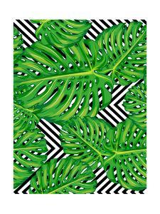 Seamless Pattern of Leaves Monstera by mary_stocker