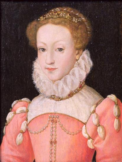 Mary Stuart (1542-87)-Francois Clouet-Giclee Print