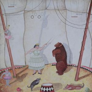 Lady with Dancing Bear, 1980 by Mary Stuart