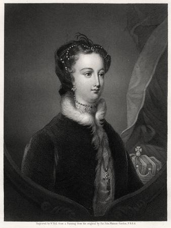 Mary Stuart, Queen of the Scots, 19th Century-W Holl-Giclee Print