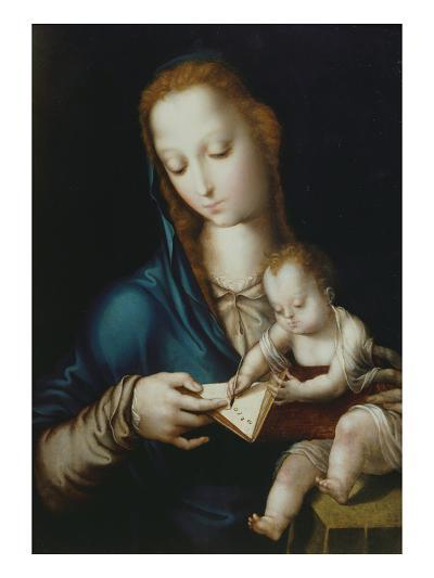 Mary Teaching Jesus to Write, 16th Century-Luis De Morales-Giclee Print