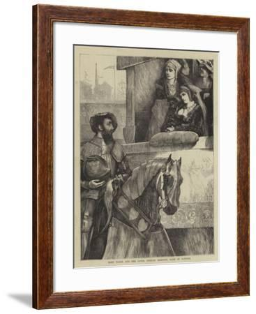Mary Tudor and Her Lover, Charles Brandon, Duke of Suffolk--Framed Giclee Print