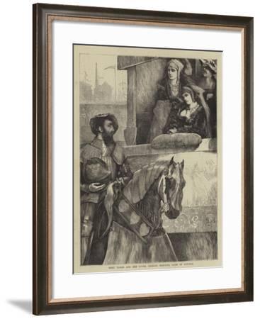 Mary Tudor and Her Lover, Charles Brandon, Duke of Suffolk--Framed Giclee Print
