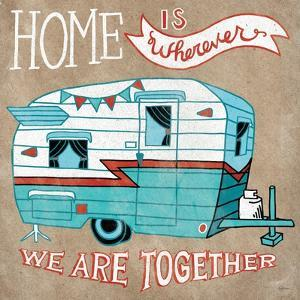 Adventure Love Camper Taupe by Mary Urban