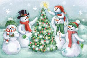 Classic Snowmen IV by Mary Urban