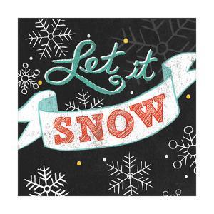 Let it Snow Black Sq by Mary Urban